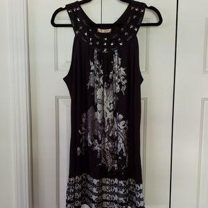Shine Stud Necklace Tunic Dress sz XXL